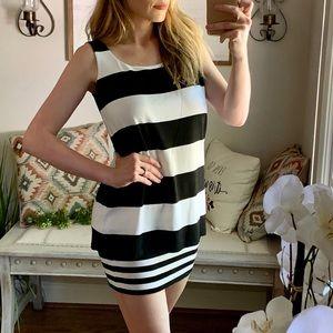 Bailey 44 bodycon striped mini dress